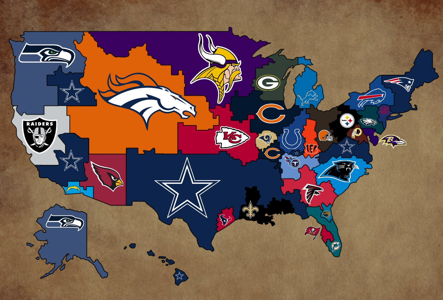 Birth Place of Every NFL Player   An Interactive Map 1478x1001