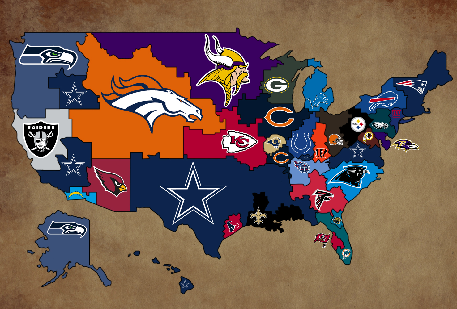 Diagram Album Us Map Of Nfl Teams More Maps Diagram And Concept - Map of us cities with football teams
