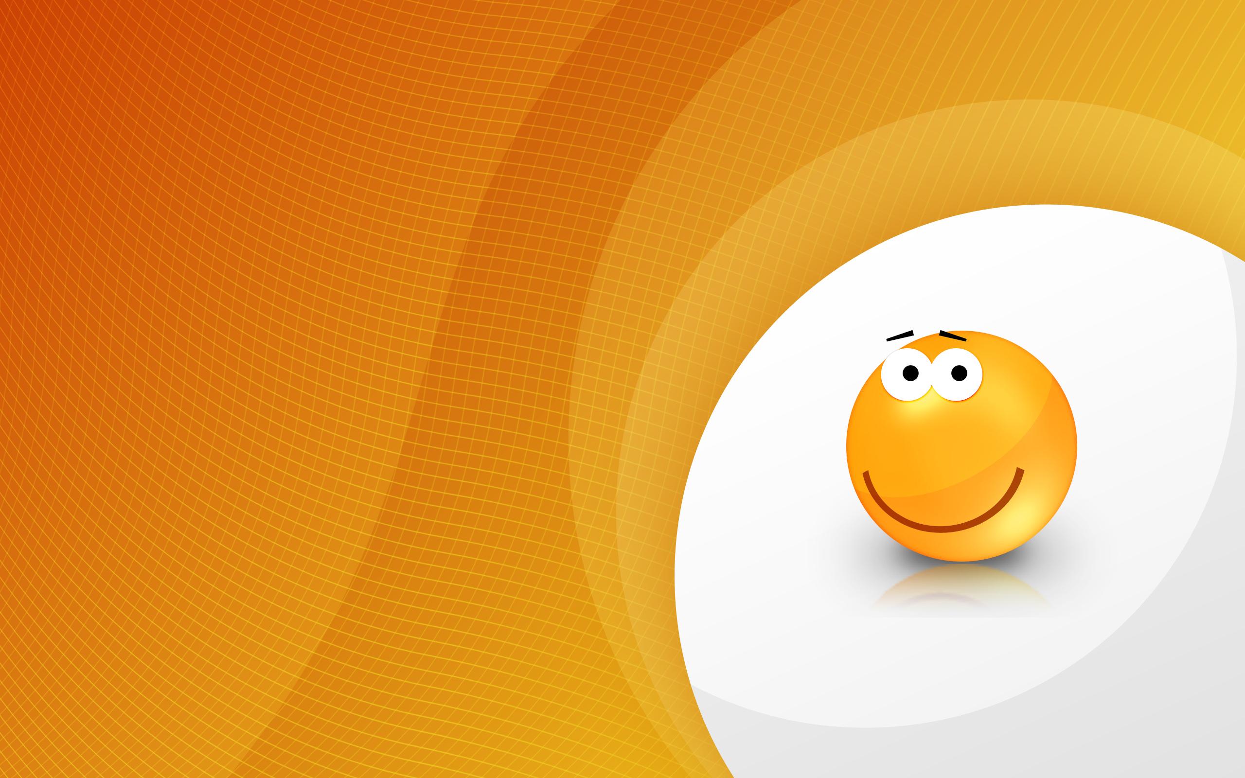 Orange Smiley Wallpapers HD Wallpapers 2560x1600