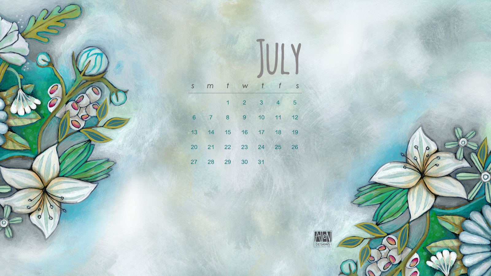 Click here to enjoy this months desktop calendar 1600x900