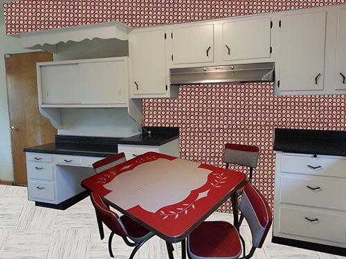 Free Download Kitchen Design And Decorating Ideas For A Vintage Black And White 500x375 For Your Desktop Mobile Tablet Explore 45 Red Wallpaper For Kitchen Red Wallpaper Designs Apple