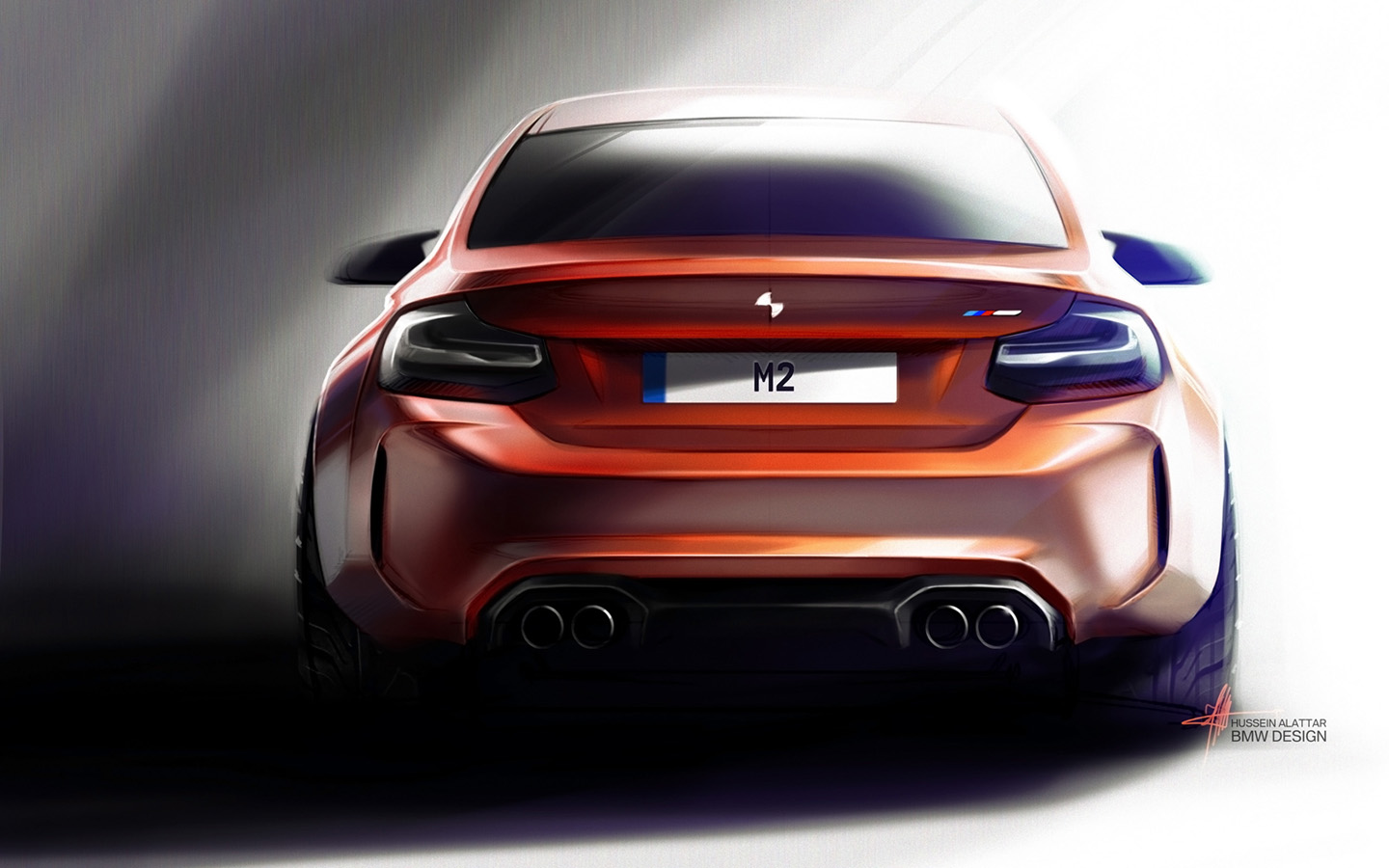 2016 BMW M2 Coupe   Sketches   3   1440x900   Wallpaper 1440x900