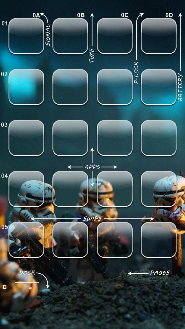 Star Wars iPhone 5 Icon Wallpaper Iphone 55s Wallpaper Pinterest 640x1136