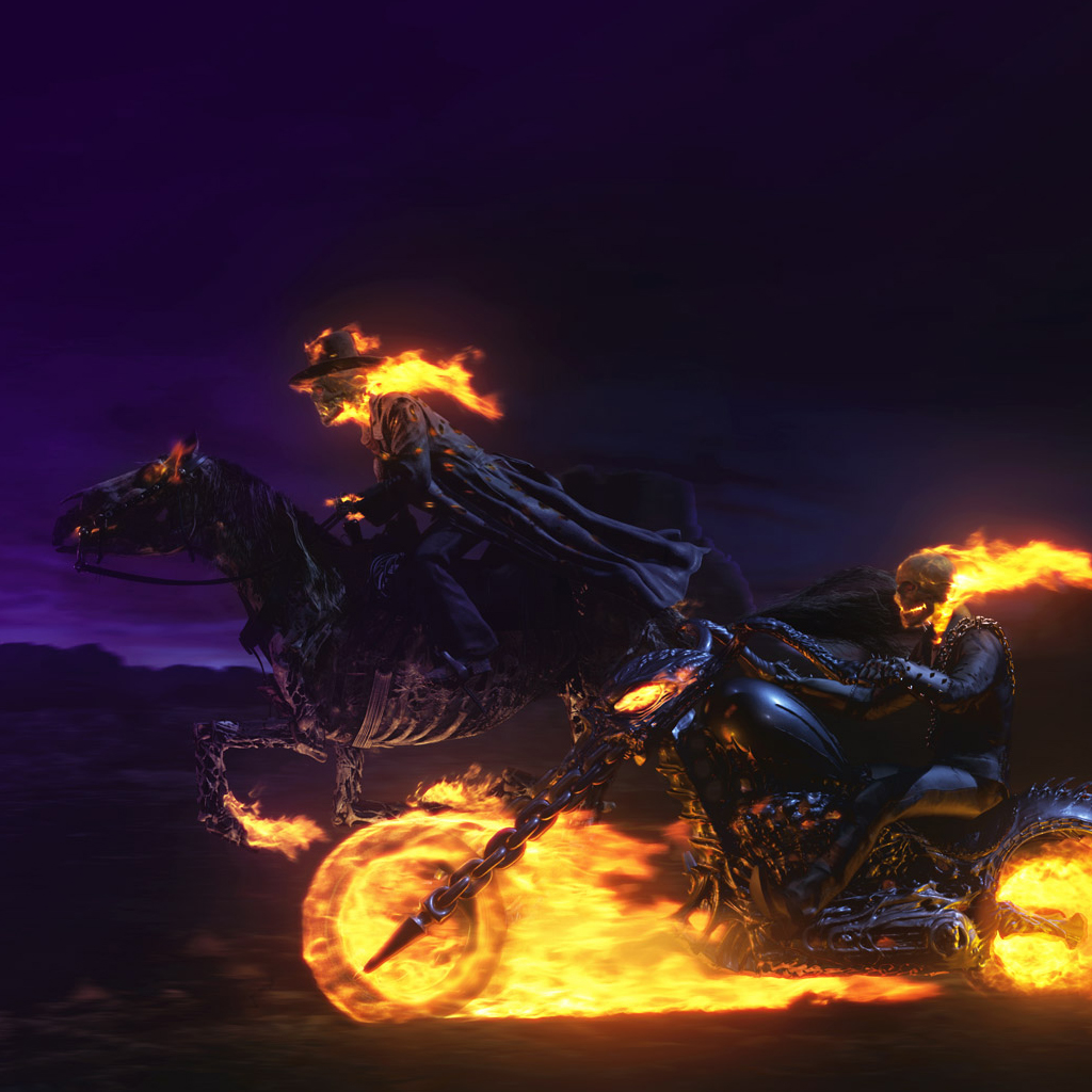 iPad Wallpapers Ghost Rider 3 iPad Wallpapers best ipad New Mobile 1024x1024