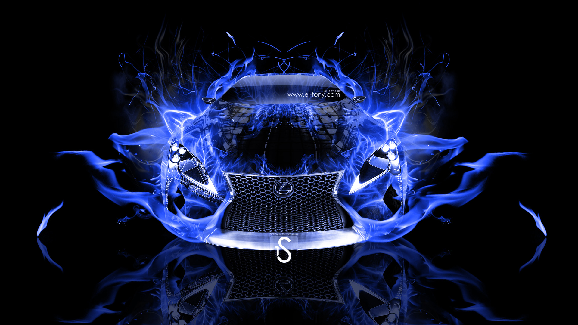 Lexus LF LC Blue Fire Abstract Car 2013 HD Wallpapers design by Tony 1920x1080