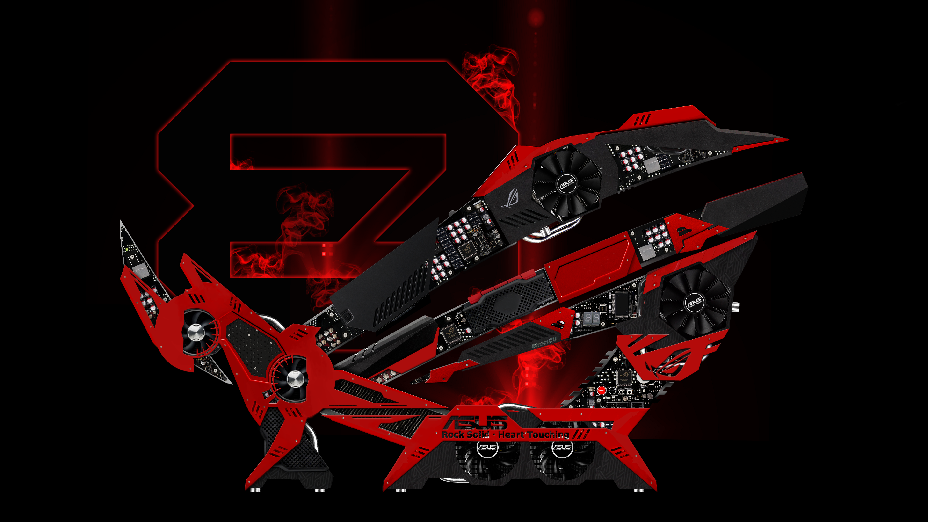 Group Of Red Amd Wallpaper Asus
