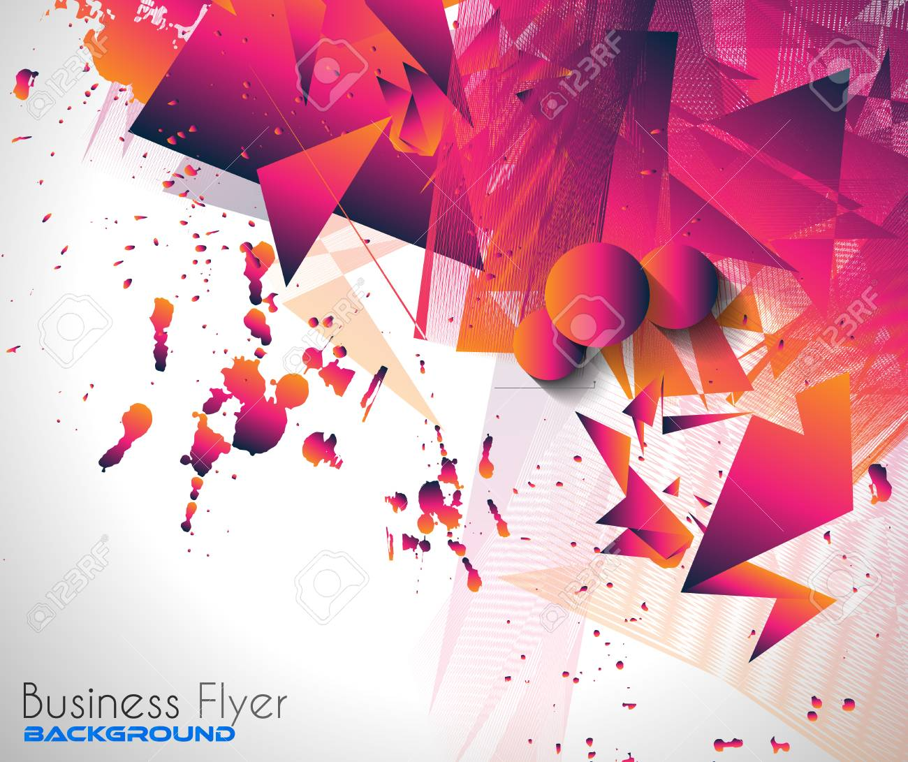 Abstract Background With Shapes Explosion For Cover Flyers 1300x1091