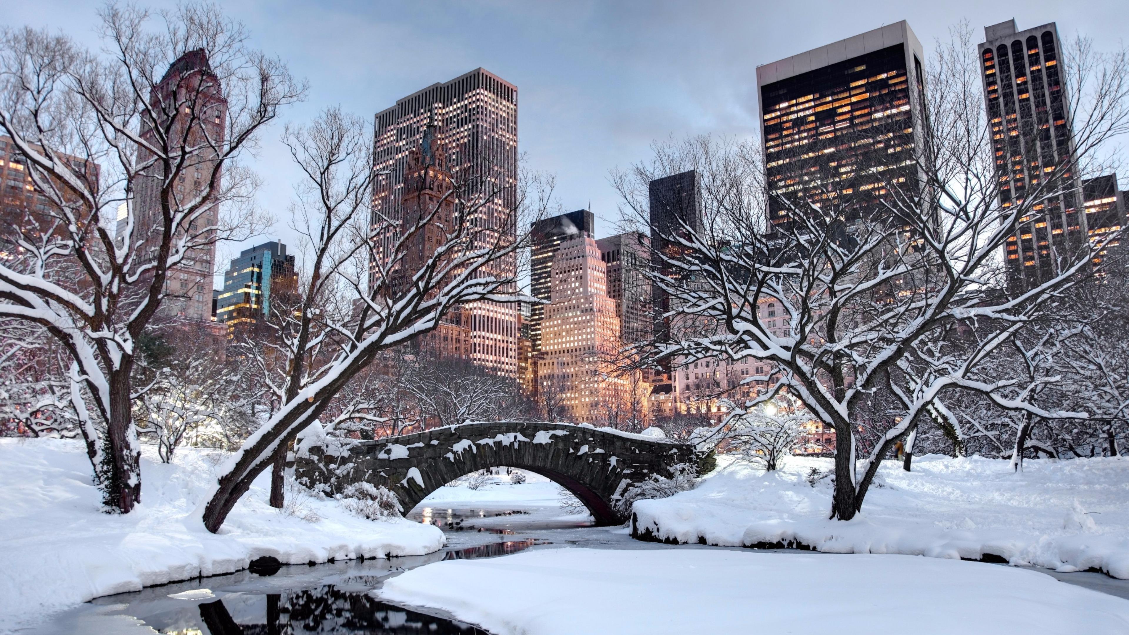 New York Winter Wallpapers   Top New York Winter Backgrounds 3840x2160