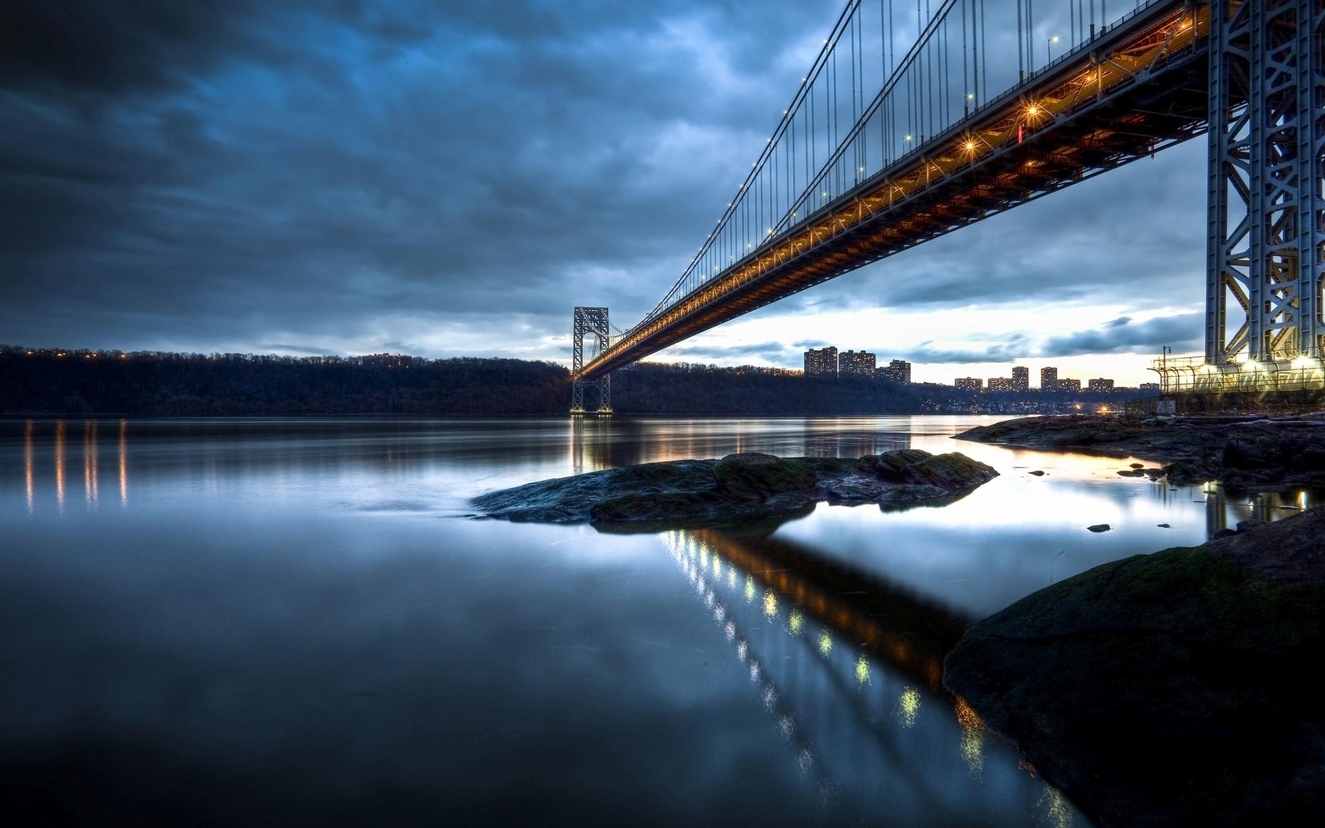 George Washington Bridge Widescreen Wallpaper   11862 1920x1200