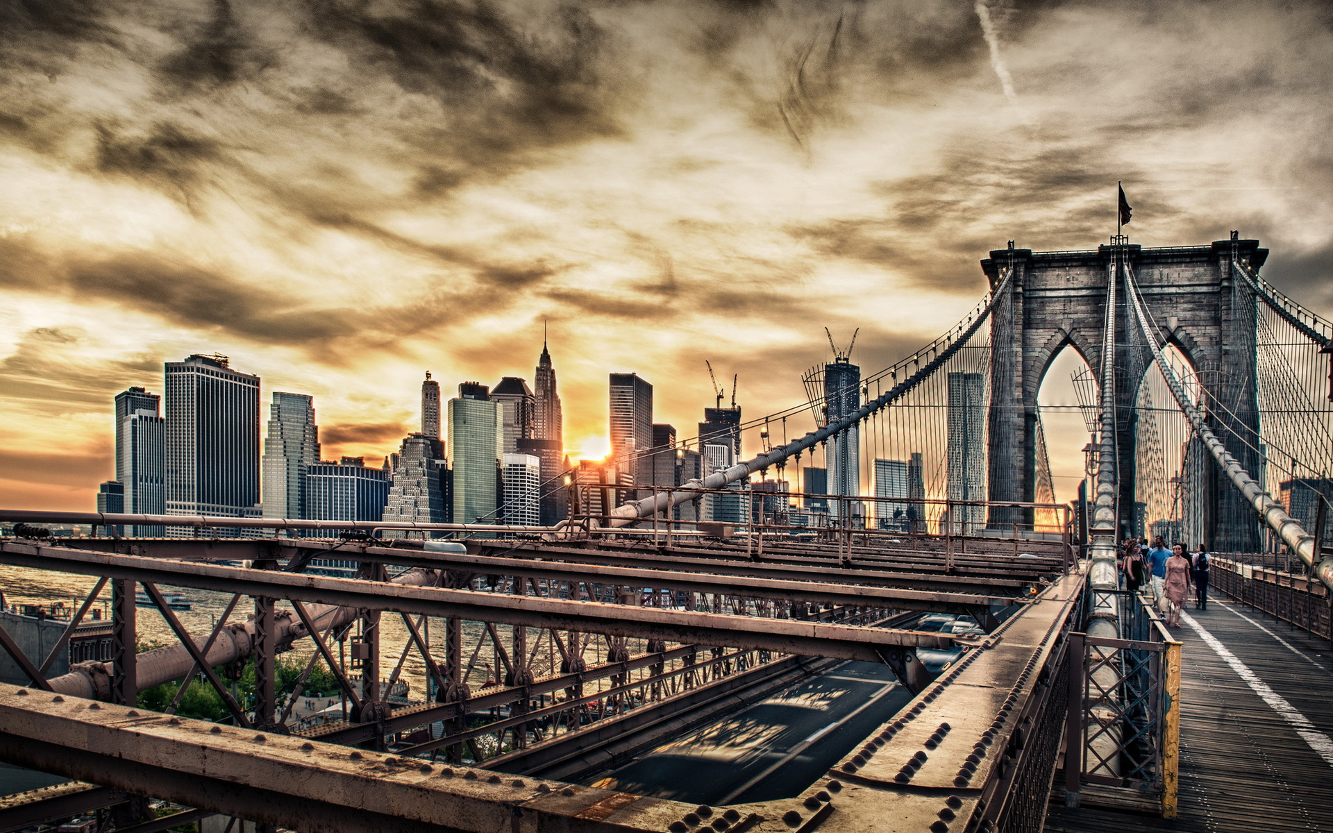 Man Made - Brooklyn Bridge Wallpaper