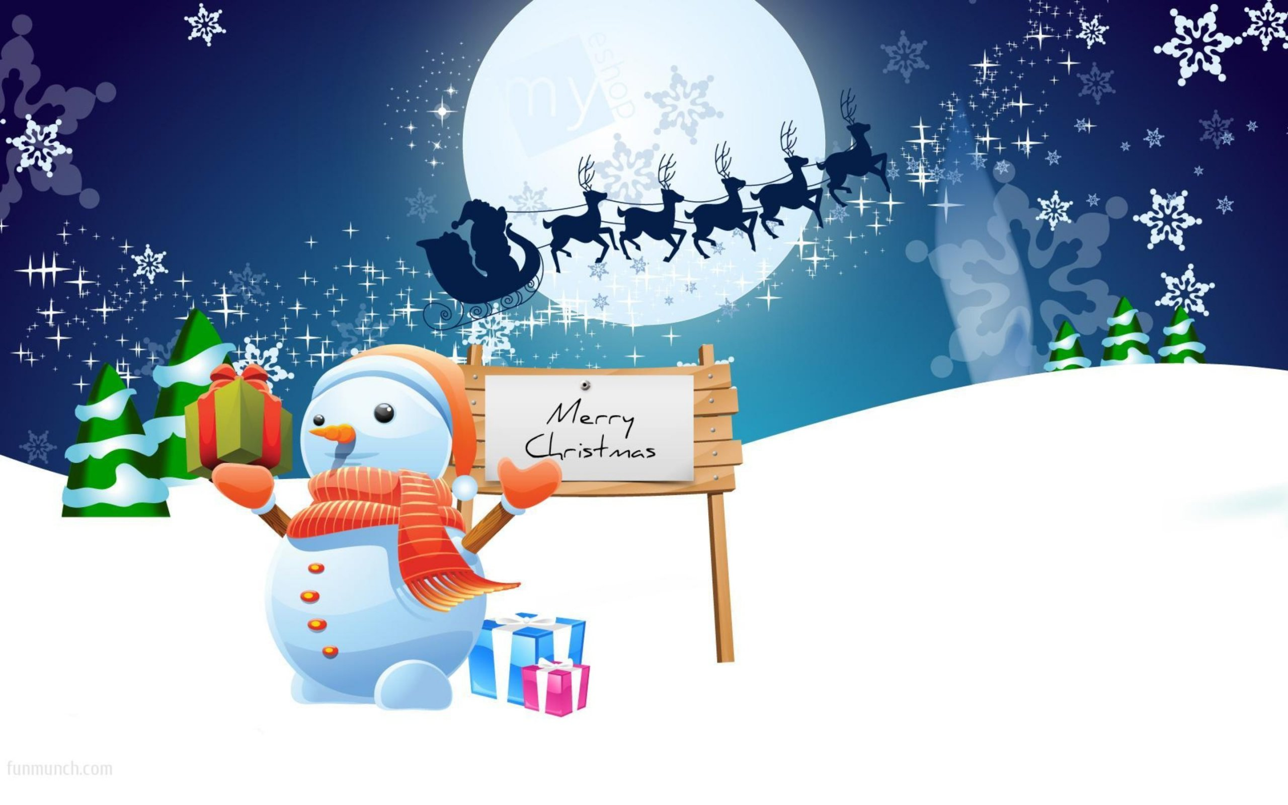 Merry Christmas From The North Pole HD Wallpaper Background 2560x1600