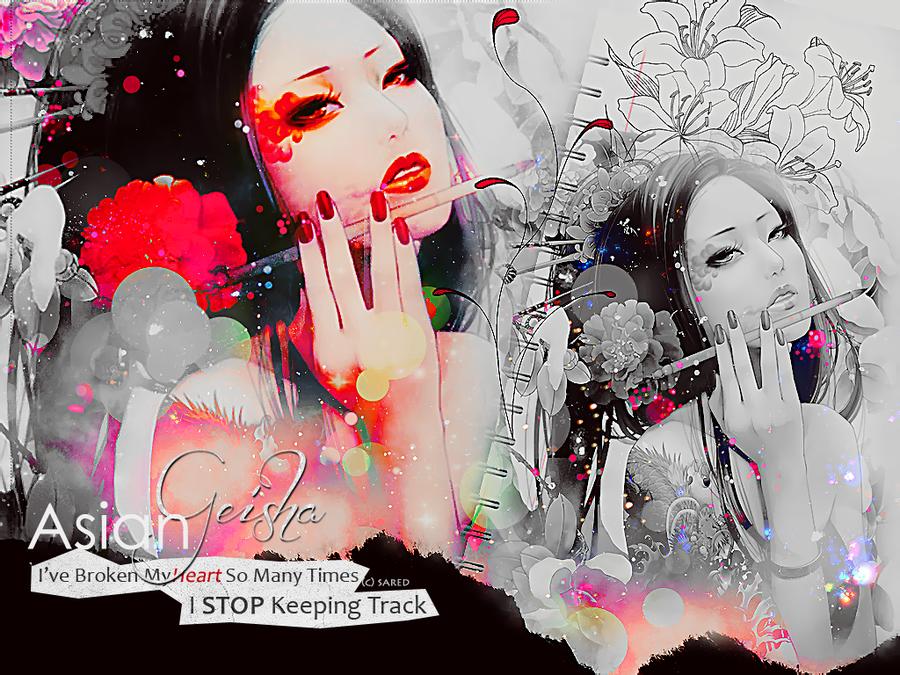 Asian Geisha Wallpapers by saredGfx 900x675