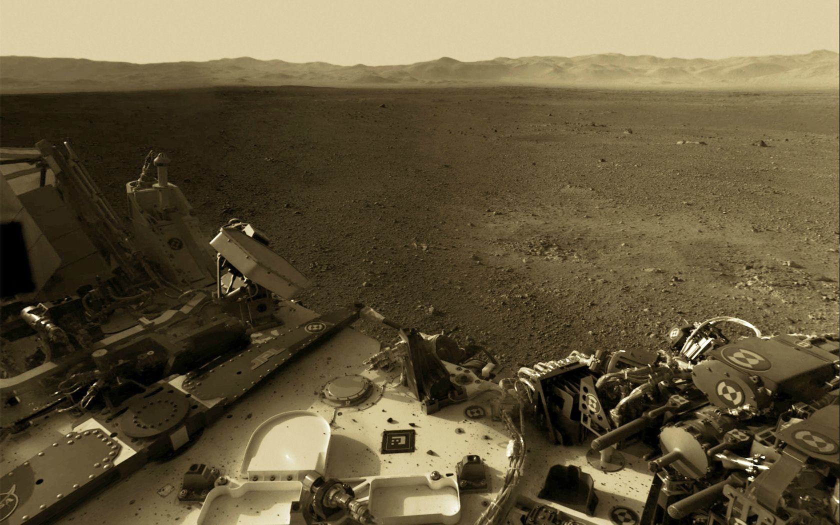 curiosity rover on mars background - photo #38
