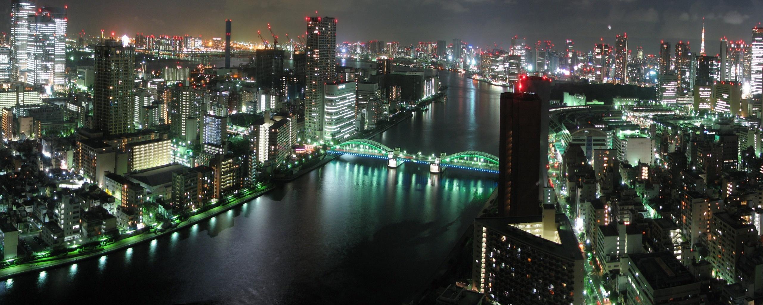 Tokyo Panorama Dual Monitor Wallpapers HD Wallpapers 2560x1024