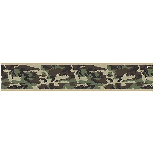 Camo Green Wallpaper Border by Sweet Jojo Designs 619x619