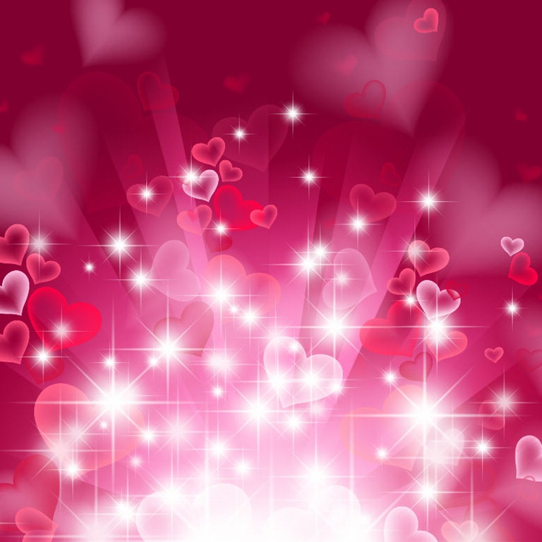 Abstract Heart Background in Pink Vector Graphics All 768x768