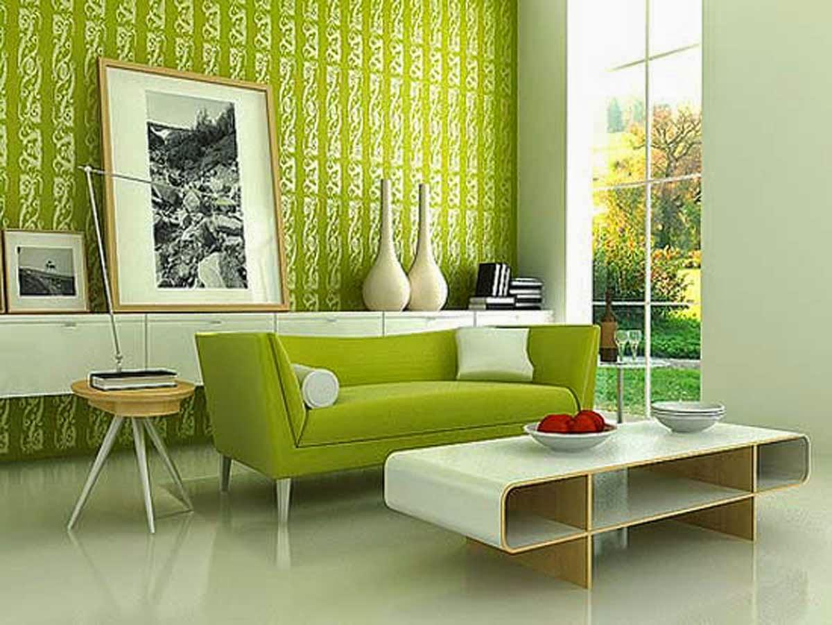 Free Gambar Wallpaper Dinding Ruang Tamu Minimalis