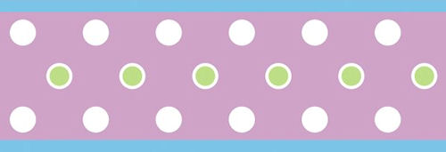 Purple Polka Dot Peel and Stick Wallpaper Border 500x171