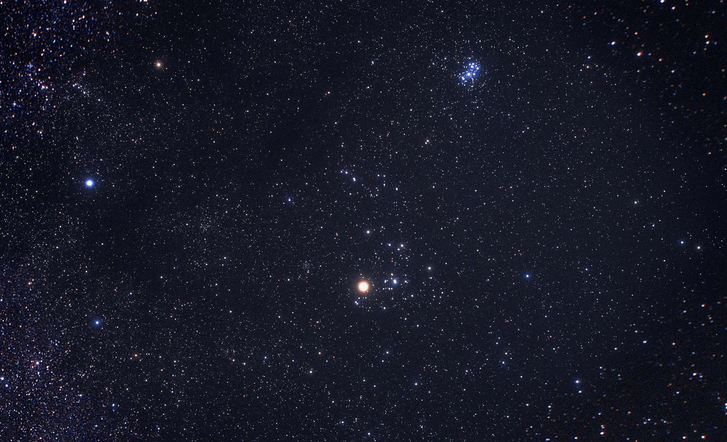 Constellation Taurus ground based image ESAHubble 2508x1526