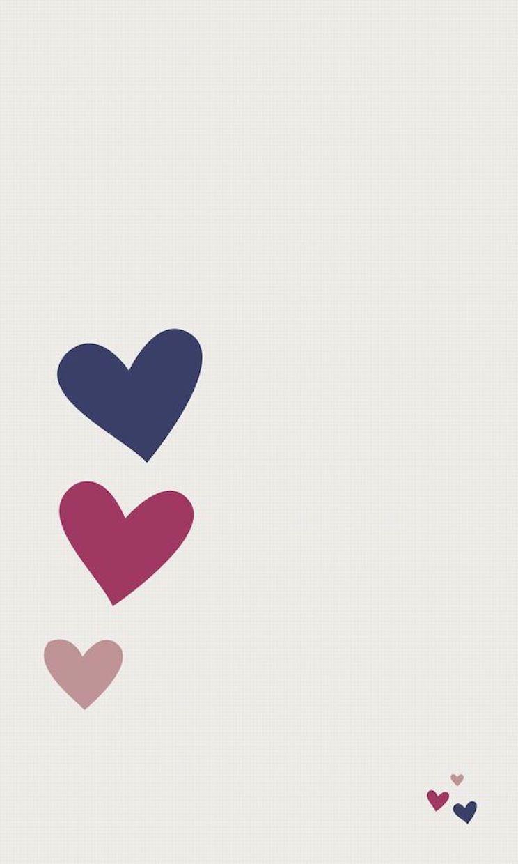 Free Hearts Cool Whatsapp Wallpaper [744x1240] For