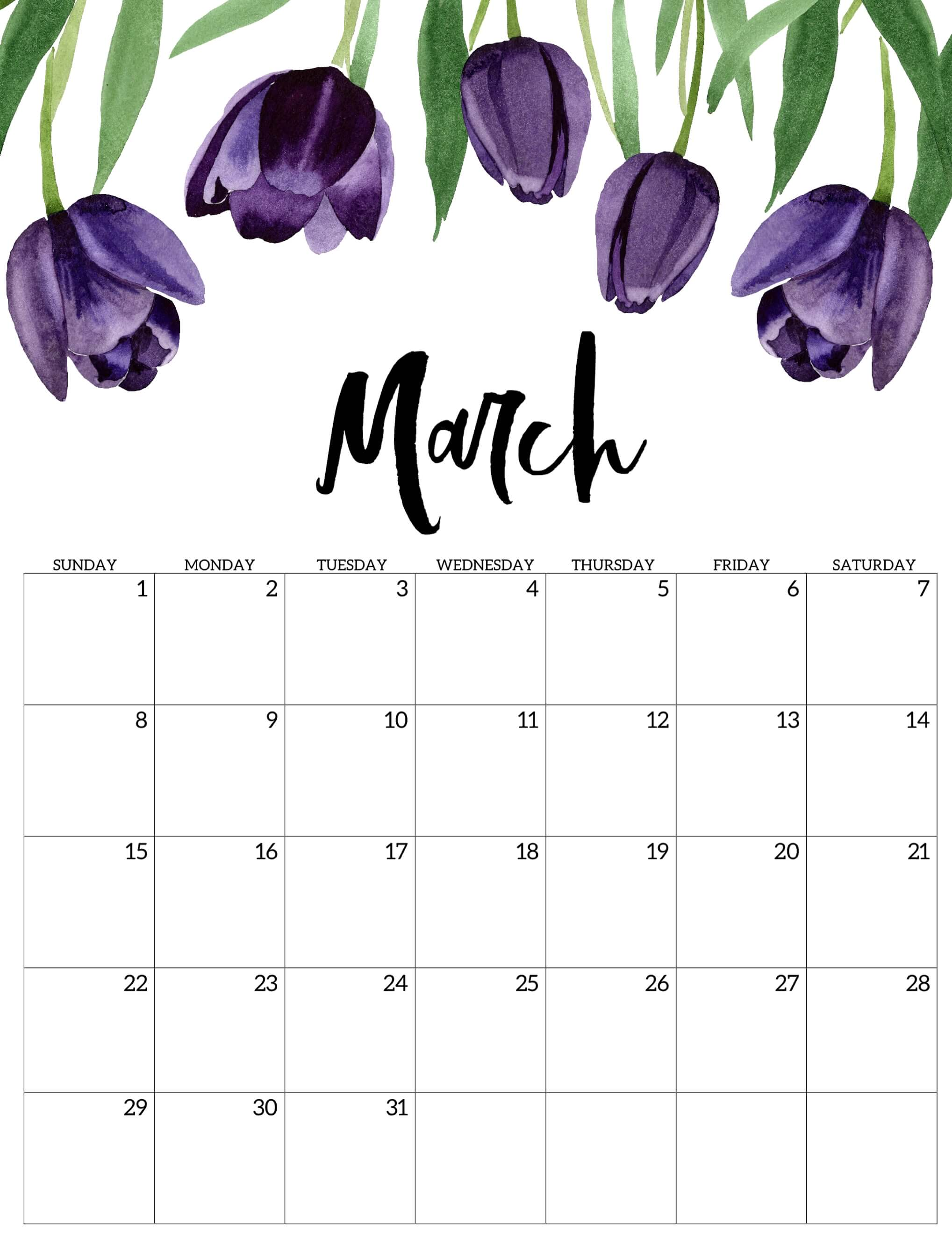 Cute March 2020 Calendar Designs Images   Learnworksheet Learn 2037x2667