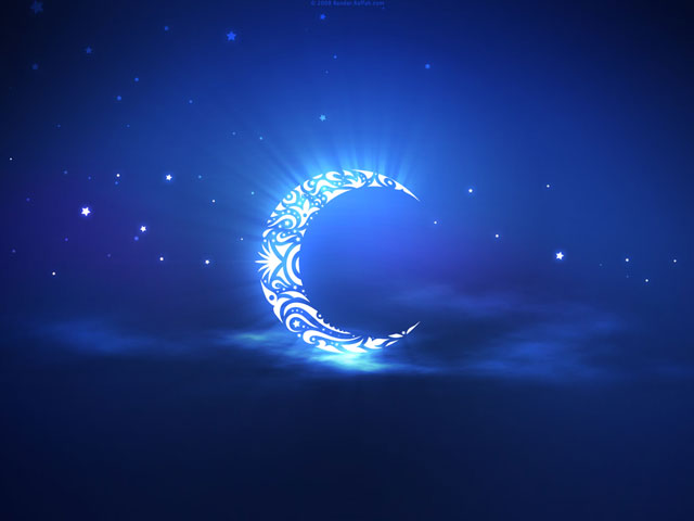 Beauty picture with islamic crescent Islamic Desktop 640x480