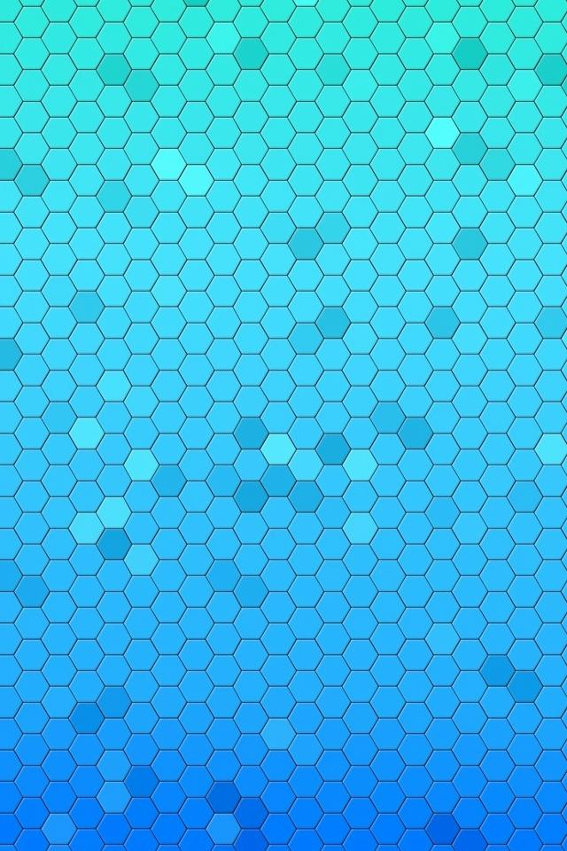 Free Download Aqua Hexagons Iphone 4 Wallpaper And Iphone 4s