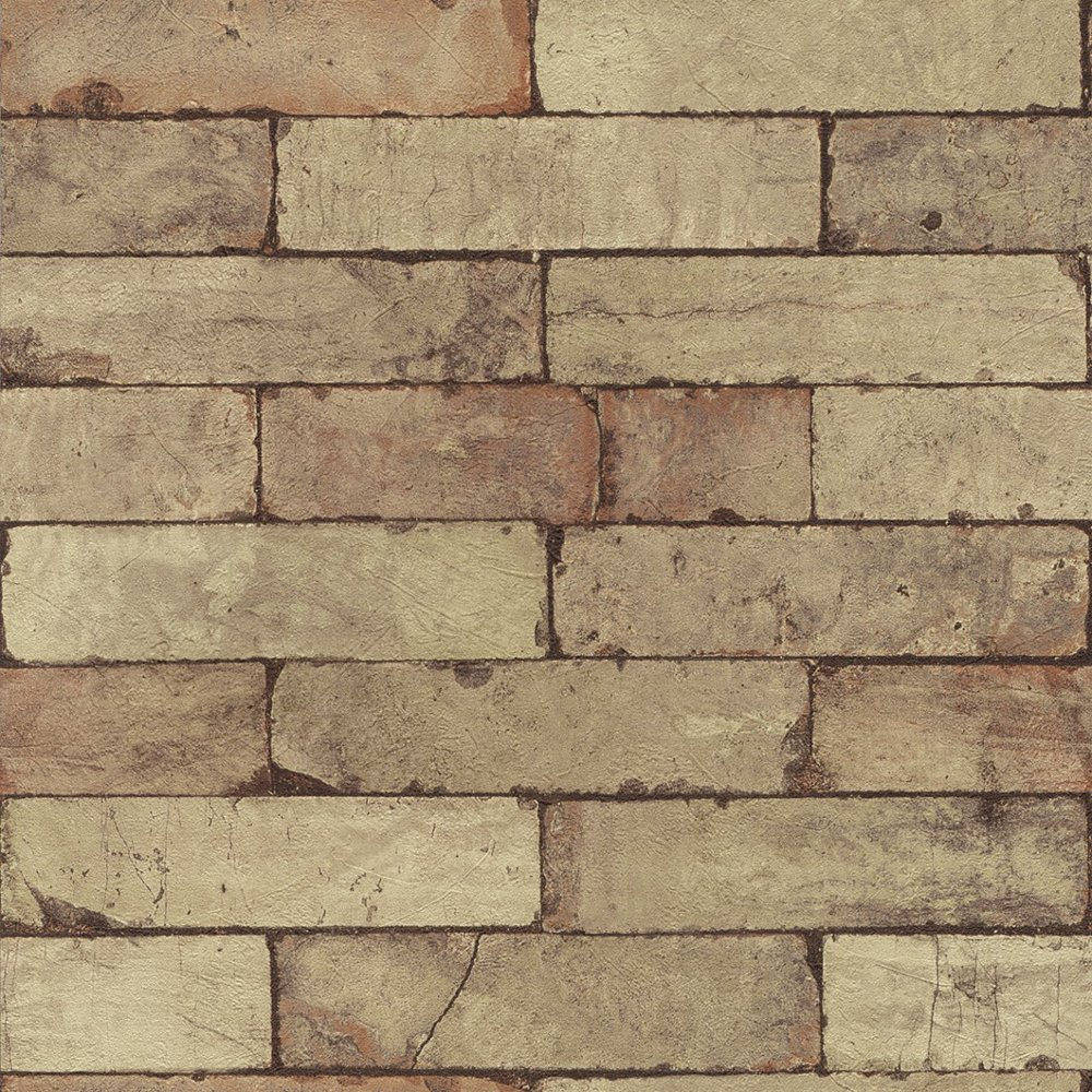 Stone Pattern Brick Wall Faux Effect Textured Mural Wallpaper 446388 1000x1000