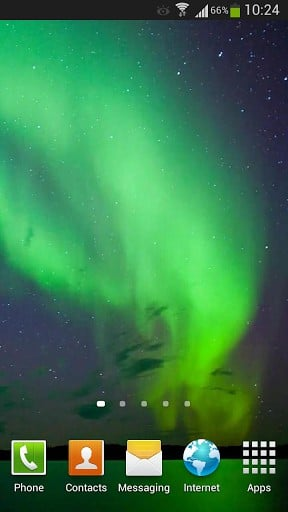 Enjoy this beautiful Aurora Borealis live wallpaper and get relaxed 288x512