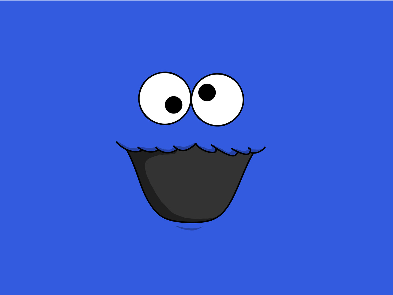 Free download Google Chrome Themes Cookie Monster Theme [1363x1024