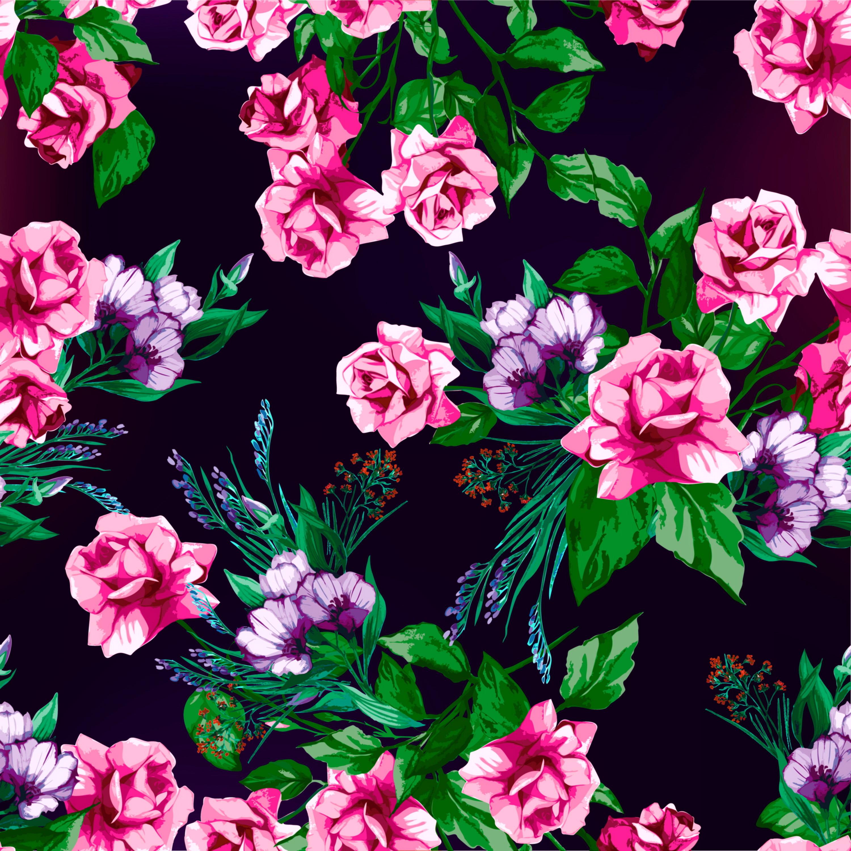 Flower Print Wallpaper Roses