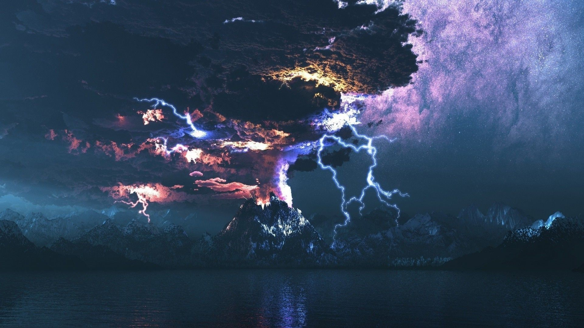 64 Volcanic Lightning Wallpapers on WallpaperPlay 1920x1080