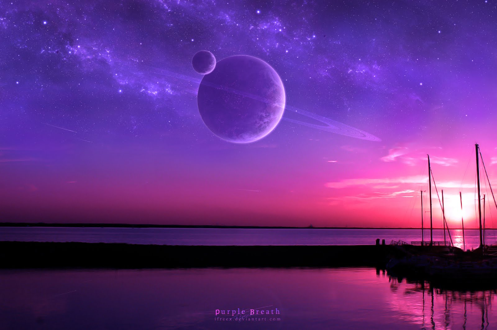 mariacandelaria: purple sunset