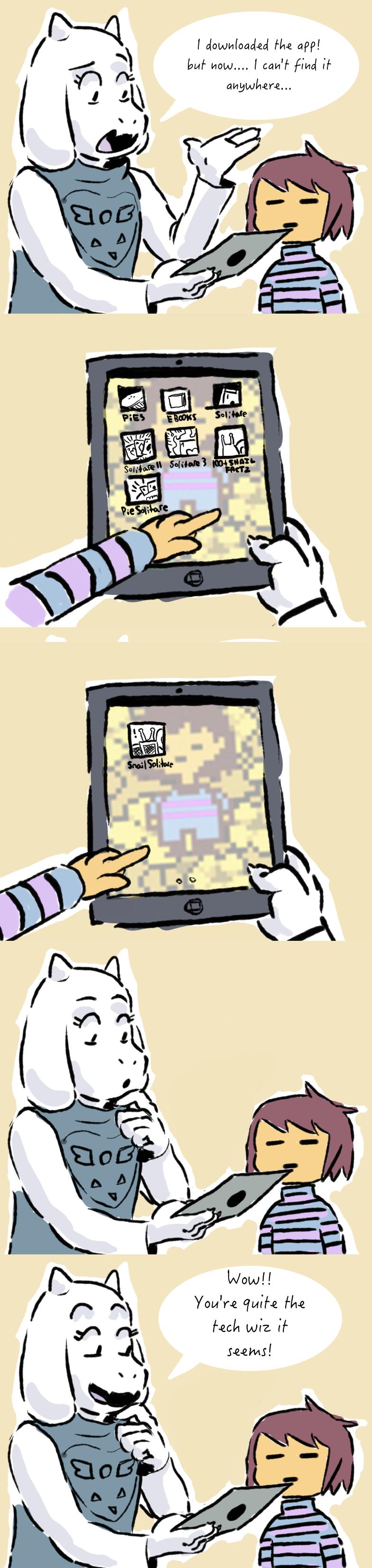 Undertale   Toriels Tablet Troubles by DeydW 784x3295