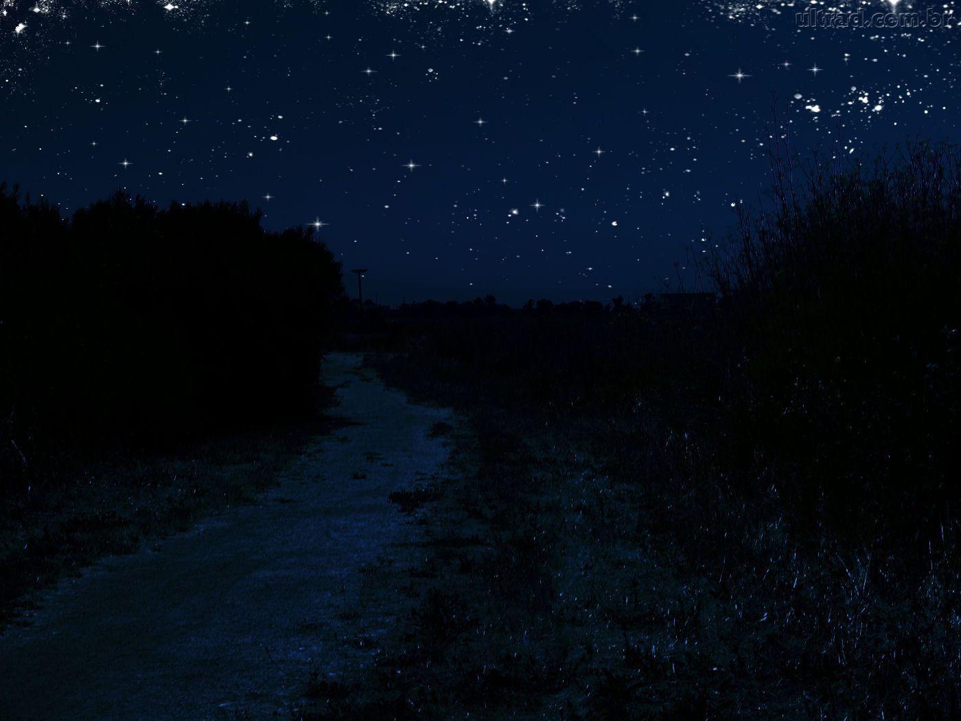 Papel de Parede Noite estrelada 1400x1050
