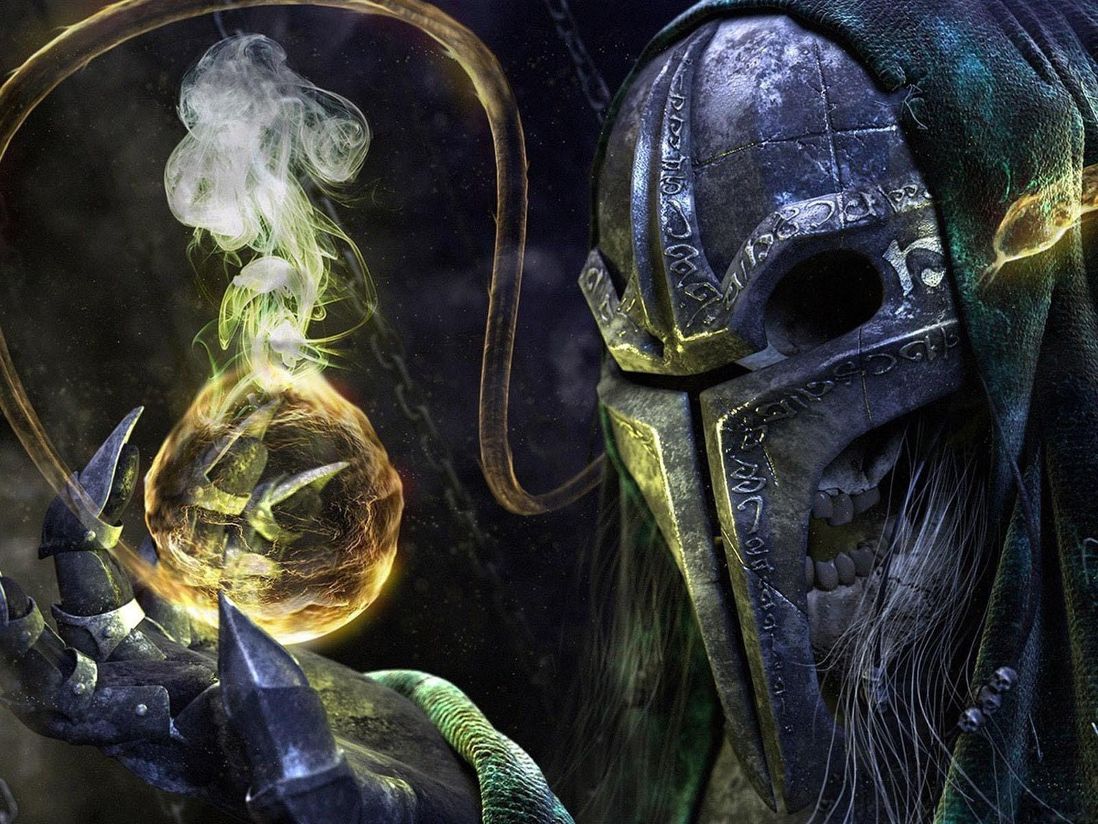 Video game character digital wallpaper evil 3D CGI skeleton HD 1600x1200