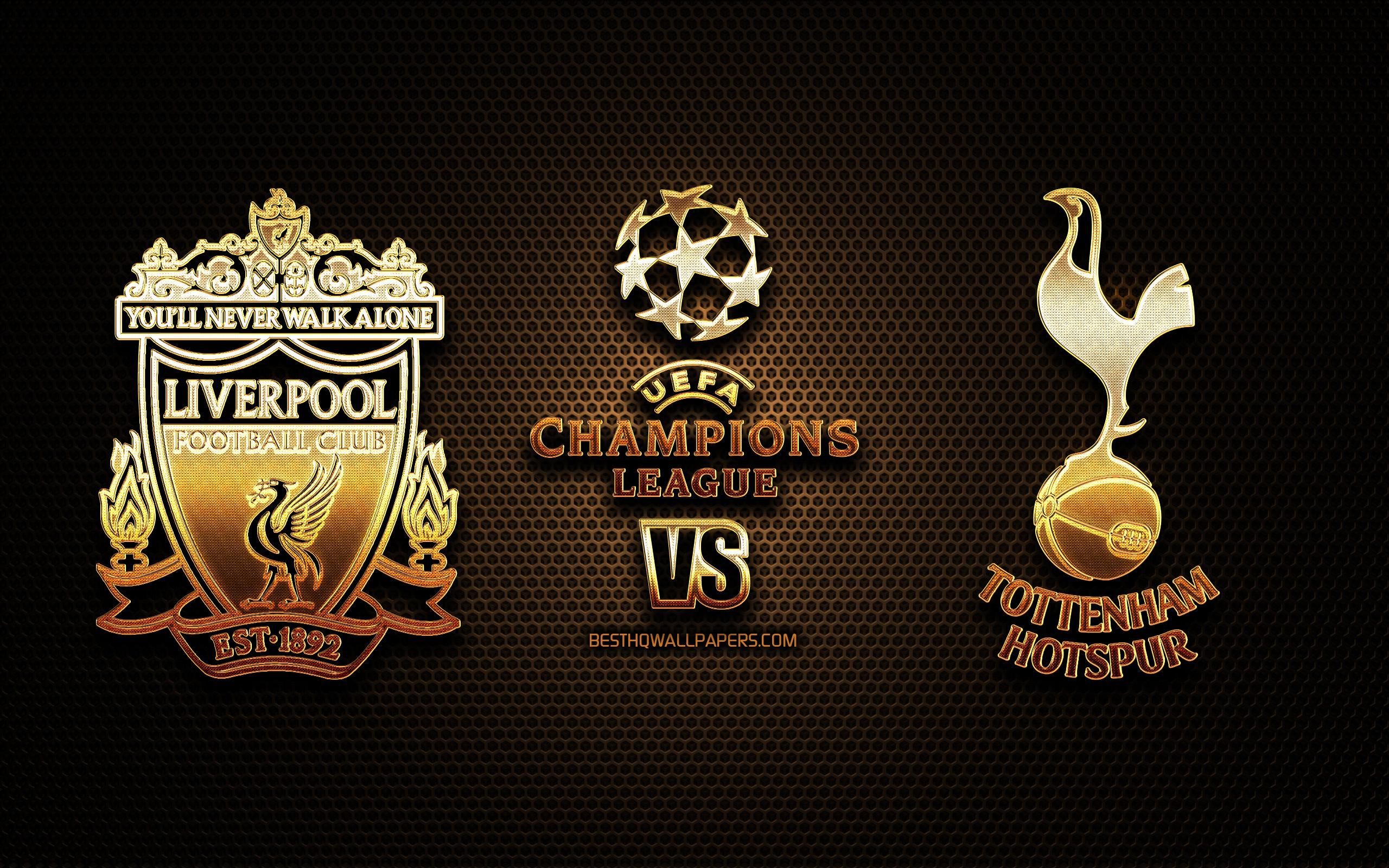 Download wallpapers Tottenham vs Liverpool 2019 UEFA Champions 2560x1600