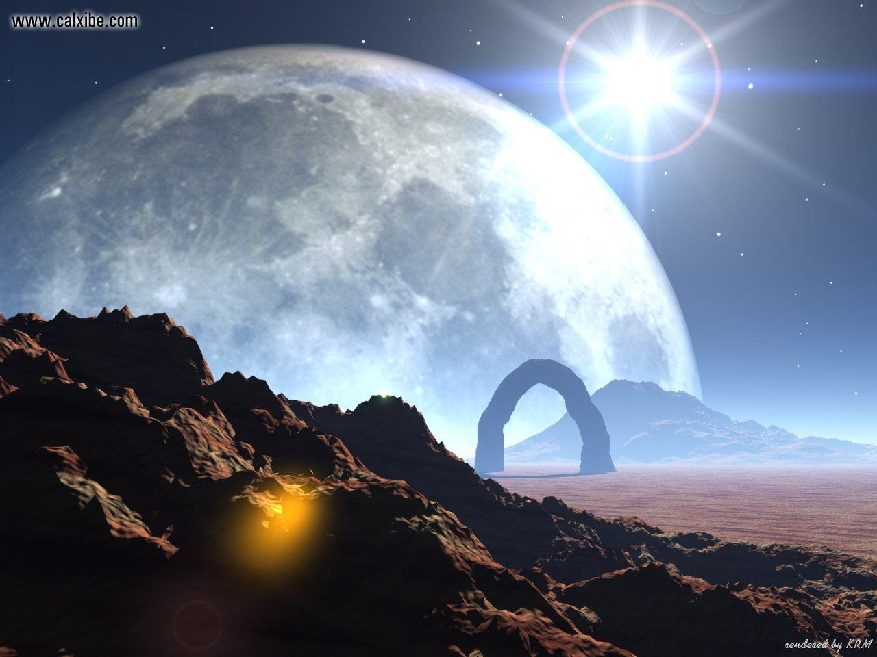 Download View Alien Worlds Distant Planet in full screen 1280x960