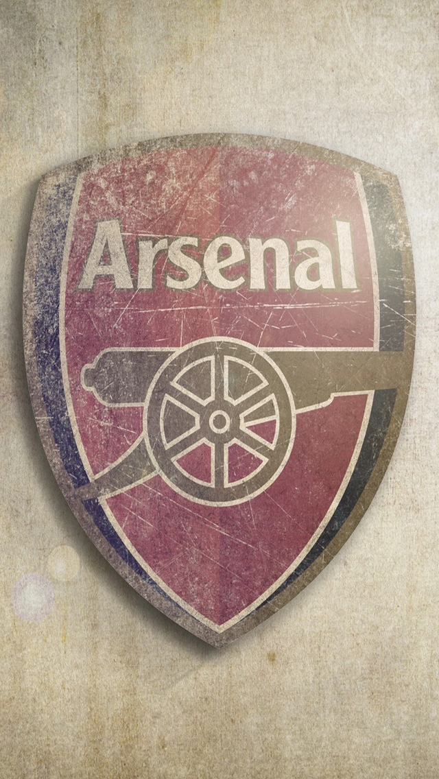 Vintage Arsenal Football Club Logo Wallpaper   iPhone Wallpapers 640x1136