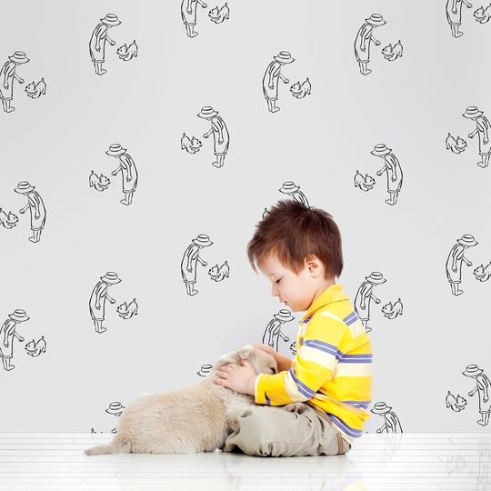 Fetch GrayBlack Removable Wallpaper   WallCandy Arts 540x540
