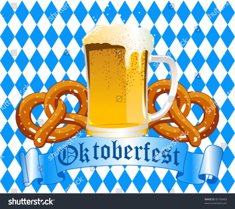 Oktoberfest Celebration Background Beer Pretzel Stock 1500x1333