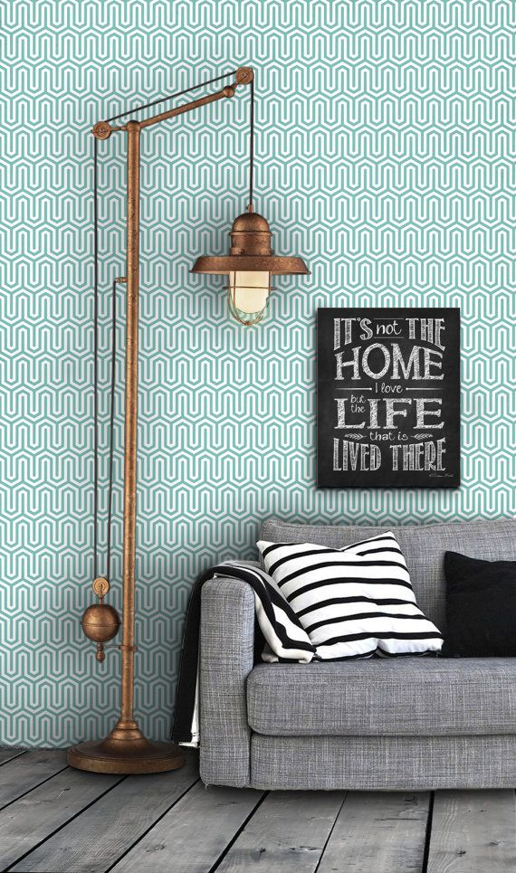 Geometric Tribal Pattern Self Adhesive Vinyl Wallpaper D014 570x965