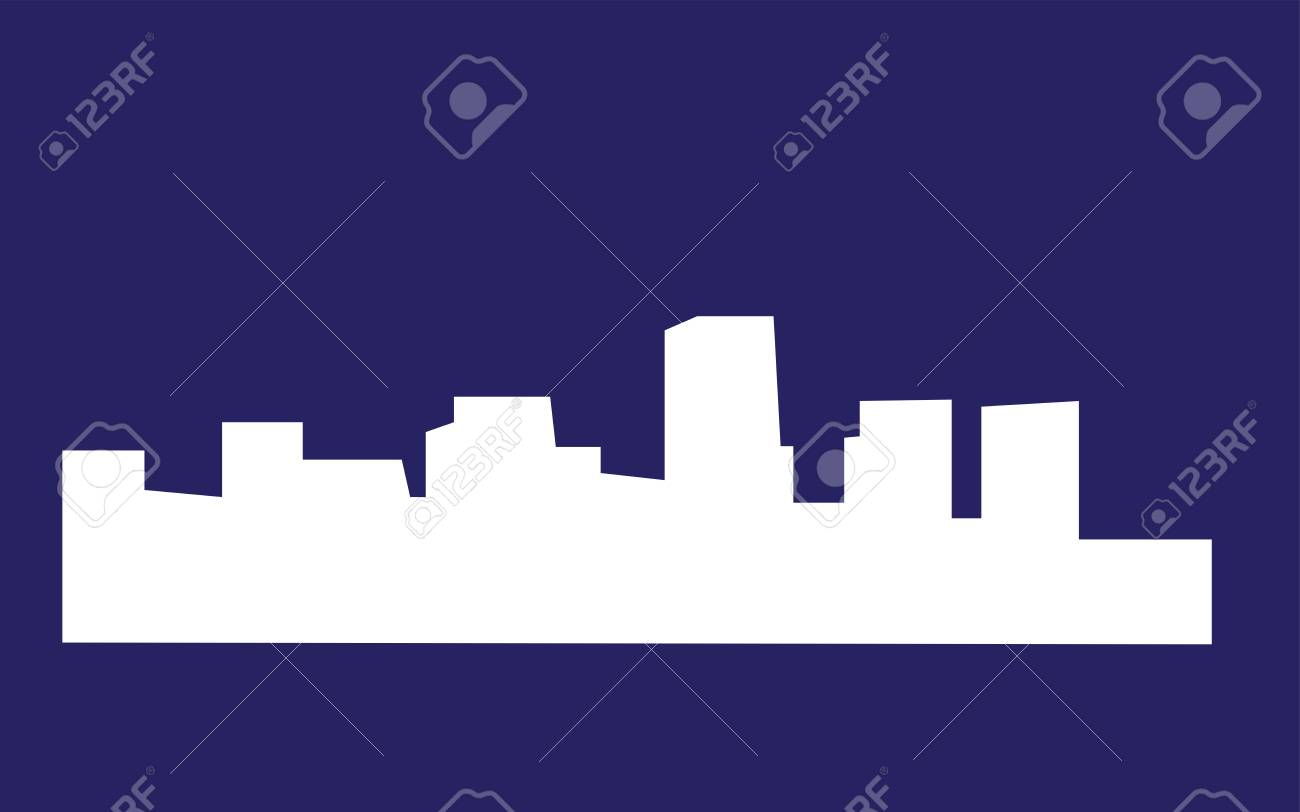 White Richmond Skyline Silhouette On Blue Background Royalty 1300x812
