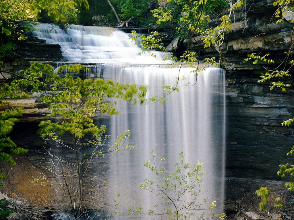 Indiana Clifty Falls State Park   Nature Wallpaper Image featuring 1024x768