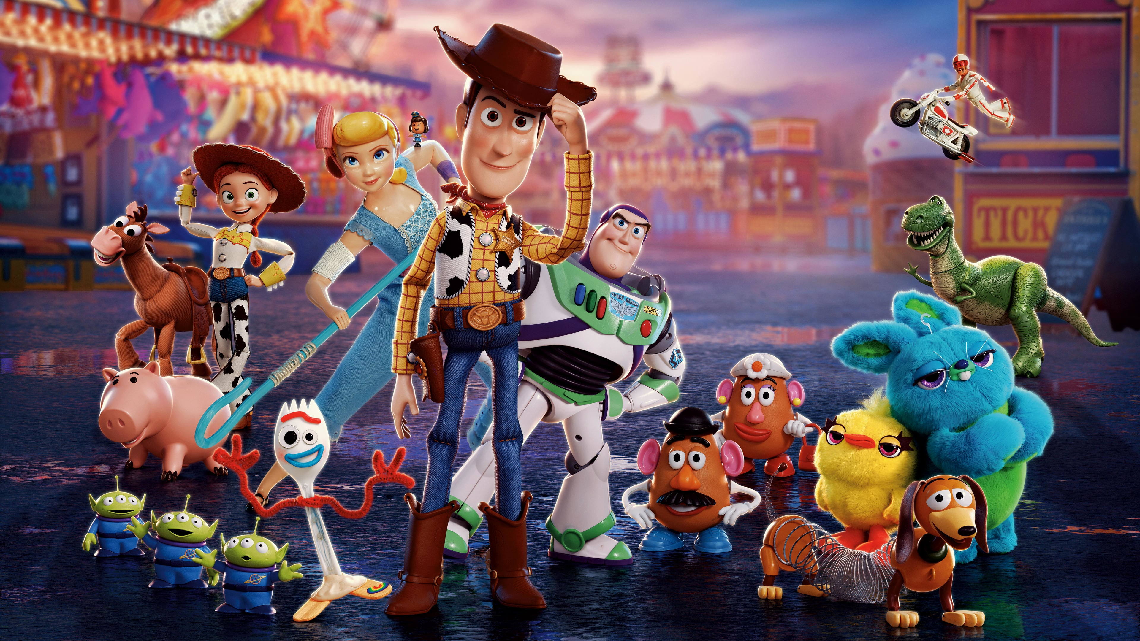 Toy Story 4 Characters Poster Wallpaper 4k Ultra HD ID3326 3840x2160