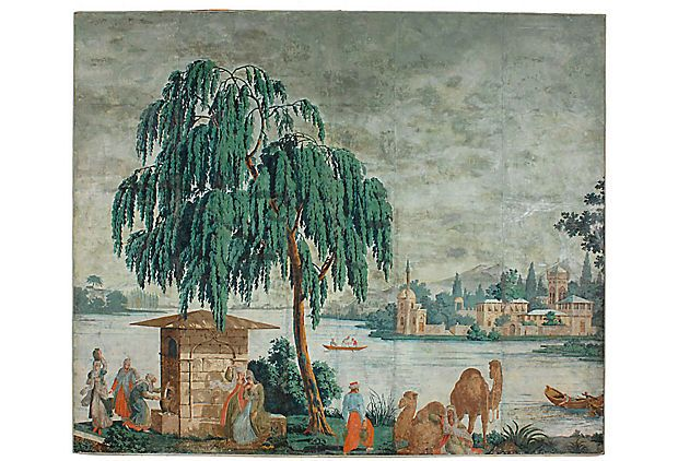zuber wallpaper for sale Kings Lane   David Bell Antiques 620x422