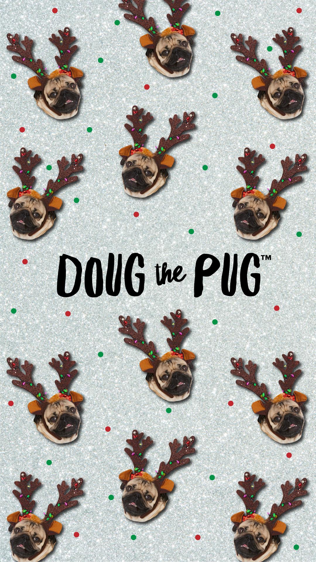 FREE Doug the Pug Christmas Wallpapers   ClairesBlog 1080x1920