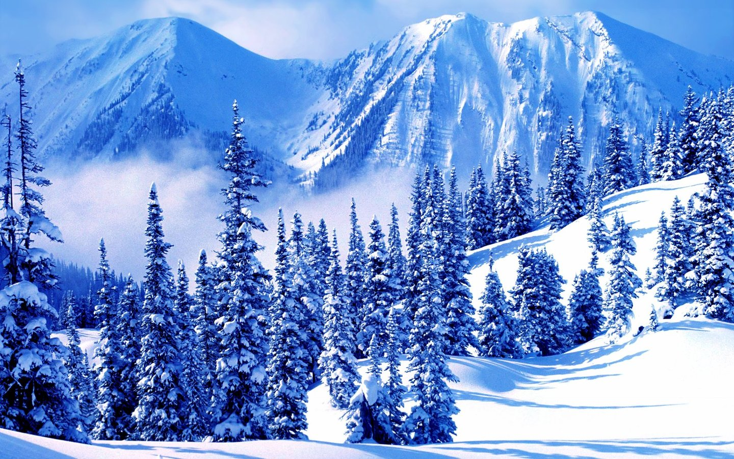 Free HQ Winter Mountains Wallpaper - Free HQ Wallpapers