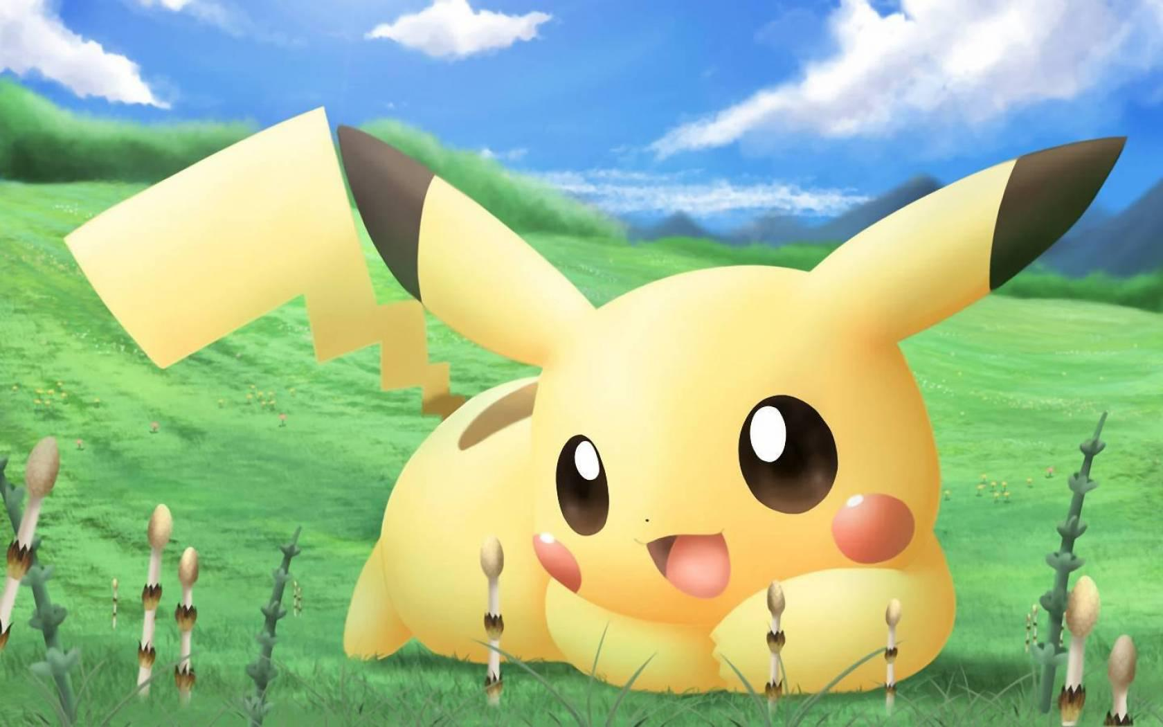 download Pikachu backgrounds 1680x1050