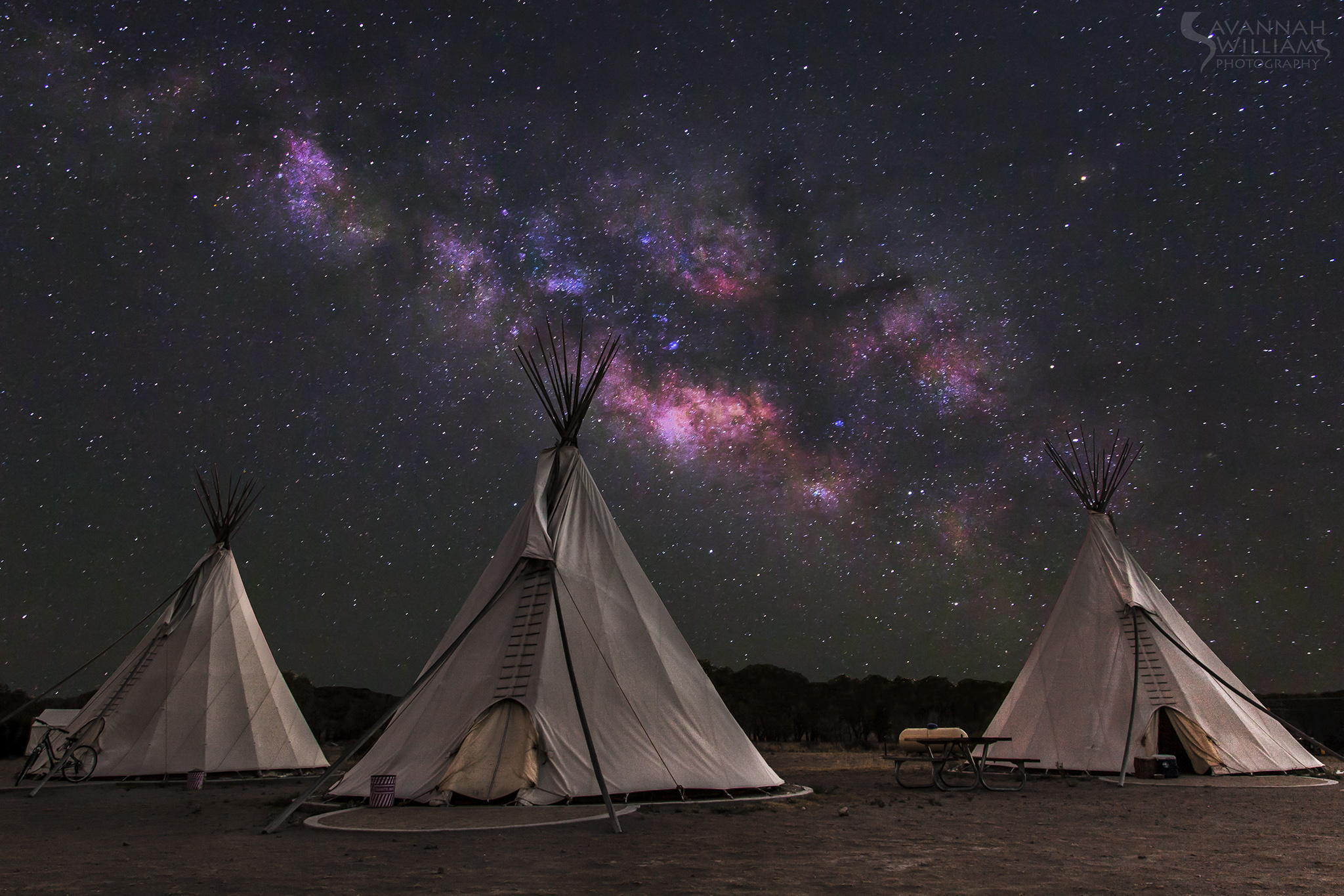 Tents Camping At A Starry Night In The Desert 2048x1365